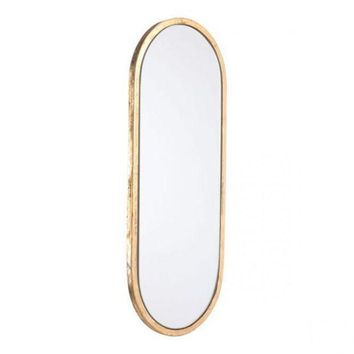 DCCKH0D Oval Gold Mirror Gold