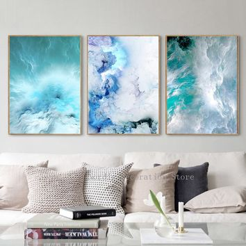 Nordic Abstract Marble Landscape Posters And Prints Wall Art Canvas Painting Home Decor Wall Pictures For Living Room Unframed