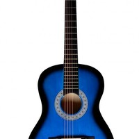 """New 38"""" Beginners Acoustic Guitar With Guitar Case, Strap, Tuner and Pick S8"""