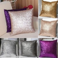 ing Square Glitter Sequins Home Textiles Decor Sofa Pillow Cover Cushion Case Pillowslip 40cm x 40cm PX127