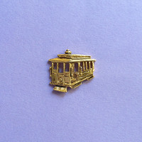 Vintage Trolley Car Pin