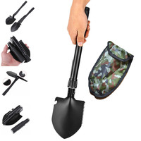 Multi-Functional Military Folding Survival Shovel Spade Compass Camping Combo