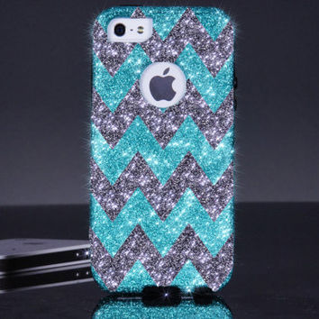 iPhone 5/5S 6 Otterbox Case - Chevron Otterbox Paradise/Smoke iPhone 5/5S 6 Commuter Case - iPhone 5/5s 6 Otterbox Sparkle Custom Case