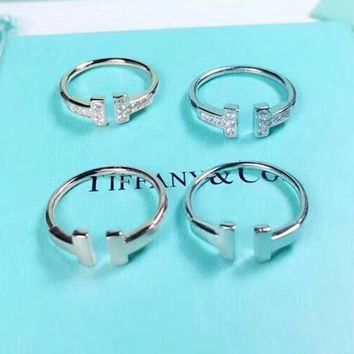 Tiffany & Co Fashion new diamond opening ring women