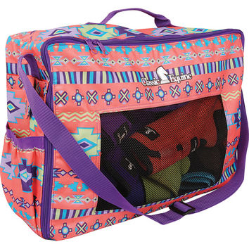 Classic Equine Coral Southwest Boot Accessory Tote