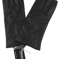 Jaclyn Smith Brown Leather Driving Dress Gloves 3M Thinsulate Insulation XL NEW