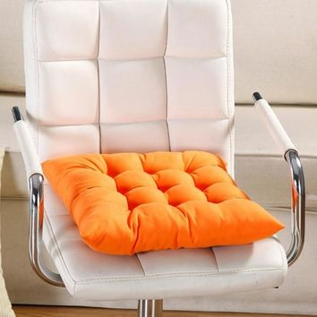 40x40cm Gifts Home Decor Comfortable 9 Colors Soft Home Office Square Cotton Seat Cushion Buttocks Chair Cushion Pads