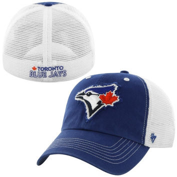Toronto Blue Jays '47 Brand Blue Mountain Flex Hat – White