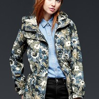 Gap Women Printed Utility Hooded Jacket