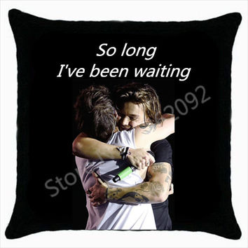"Hot Larry Stylinson Cushion Cover Larry Stylinson Hug Decorative Throw Pilows 1D Larry Shipper Gifts Car Seat Decor 18""x18"""