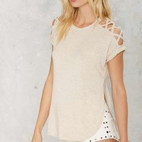 Double Over Cutout Tee