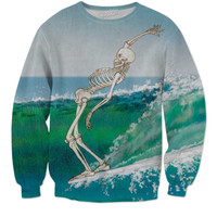 Surfing Skeleton Sweatshirt