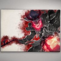 League of Legends Thresh Blood Moon LoL Game Watercolor Print Poster 11.70 x 16.50  No693