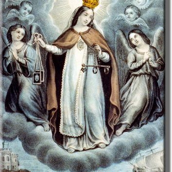 Our Lady of Mercy Religious Picture on Acrylic , Wall Art Decor, Ready to Hang!