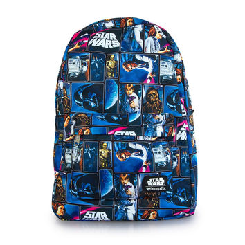 Star Wars Loungefly Vintage Comic Print Backpack Bag