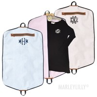Monogrammed Seersucker Garment Bag | Marleylilly