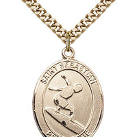 St. Sebastian/Surfing Pendant (14 Karat Gold Filled)