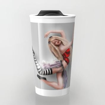 Ballerina steam jumping Travel Mug by Mrnobody