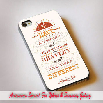 Divergent, Veronica Roth Quotes - iPhone 4s, 5S, 5C, samsung galaxy s3,s3 mini, s4, s4 mini and iPod 4, 5 casee