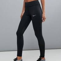 ICIKID4 Nike Running Power Epic Lx Leggings With Mesh Panels