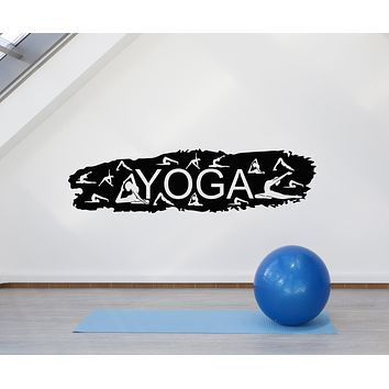 Vinyl Wall Decal Meditation Zen Pose Girls Body Yoga Studio Stickers Mural (g924)