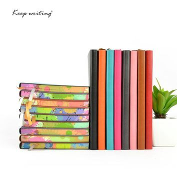A5 notebooks with 110sheets (220 pages) paper notebook journal diary  faux leather cover soft planner school notepad stationery