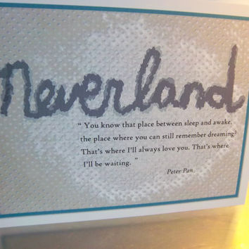Neverland poster 8 x 10 unframed print Peter Pan wall art decor