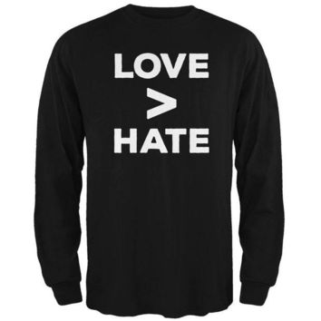 CUPUPWL Activist Love is Greater Than Hate Mens Long Sleeve T Shirt
