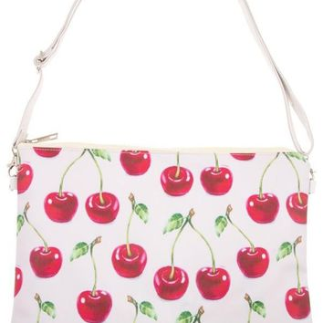 Cherry Print Hand Bag Purse