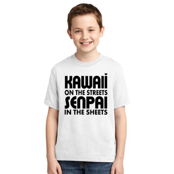 Kawaii On The Streets, Senpai In The Sheets Youth T-shirt