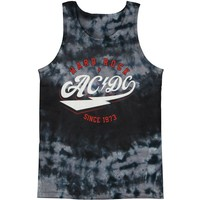 AC/DC Men's  Hard Rock Mens Tank Tie Dye Rockabilia