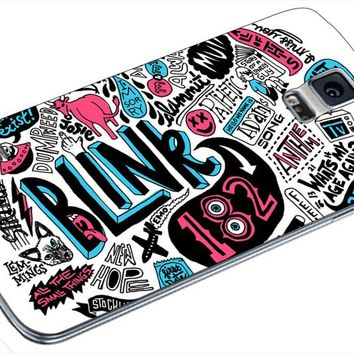 Blink 182 Band Collage Samsung Galaxy S4 S5 S6 Case (samsung s5 white)