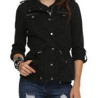 Black Throw On And Go Jacket