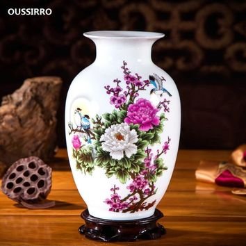 OUSSIRRO Jingdezhen Ceramic Vases Pottery Decoration living room Flower arrangement Modern home Simple TV cabinet  Ceramic gift