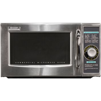 Sharp Medium Duty Commercial Kitchen Microwave with 1000 Watts