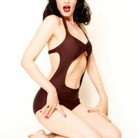 Brown Swimsuit - The Starlet Suit | UsTrendy