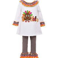 Bonnie Baby Newborn-24 Months Thanksgiving Gobble Dress & Leggings Set | Dillards