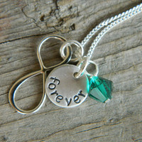 Personalized Hansdstamped Necklace with by theknottedchain on Etsy