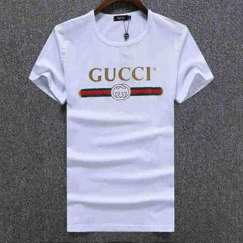 Trending GUCCI Women Man Fashion Print Sport Shirt