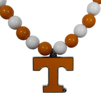 Tennessee Volunteers Fan Bead Necklace CFBN25