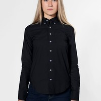 rsacp400lw - Unisex Poplin Long Sleeve Button-Down with Pocket