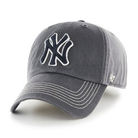 MLB New York Yankees Cronin '47 Clean Up Adjustable Hat, CHARCOAL, One Size,CHARCOAL