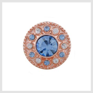 Rose Gold Blue Clear Crystals 12mm Mini