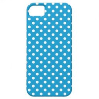 Blue Polka Dots Modern Pattern iPhone 5 Cover