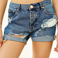 One Teaspoon Pacifica Charger Denim Short - Urban Outfitters