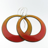 Sifted Earrings of Fire