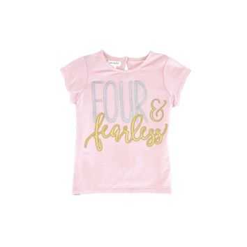 Mud Pie-Four & Fearless Shirt, Pink