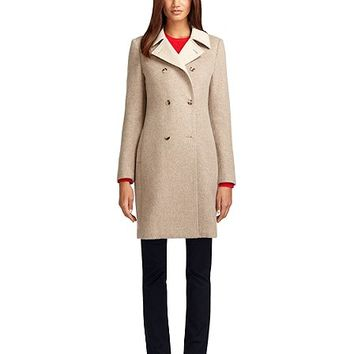 Double-Breasted Wool and Angora Coat - Brooks Brothers