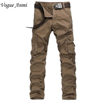 Vogue Anmi.army militarycargo pants mens cargo pants  trousers casual clothing male overalls mens pants 30-40 1591#