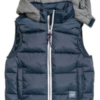 Padded Vest with Hood - from H&M